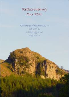 """Rediscovering our Past"" book cover showing Castle Rock of Triermain"