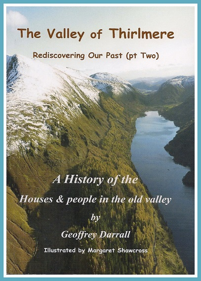 Front cover of book - an aerial view of Thirlmere with Grasmere in the distance
