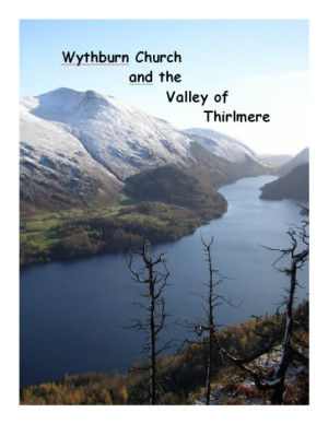 front cover of Wythburn booklet which shows Thirlmere and a snow-covered Helvellyn